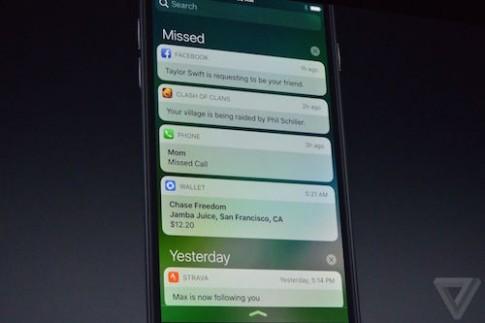iOS 10 chính thức trình làng cho iPhone 5 trở lên