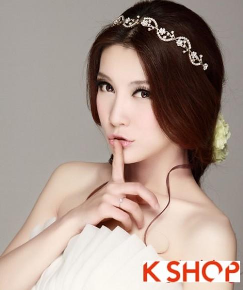 Kiểu tóc cô dâu đẹp mang phong cách Hàn Quốc tươi trẻ 2016