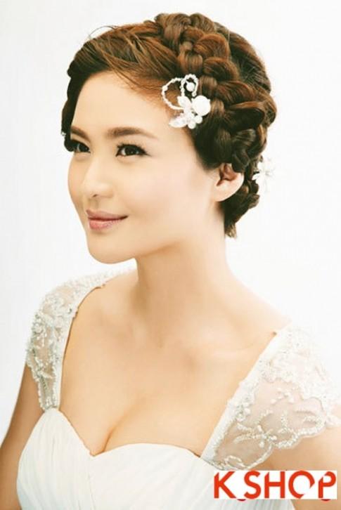 Kiểu tóc tết cô dâu đẹp 2016 đơn giản lãng mạn trong ngày cưới
