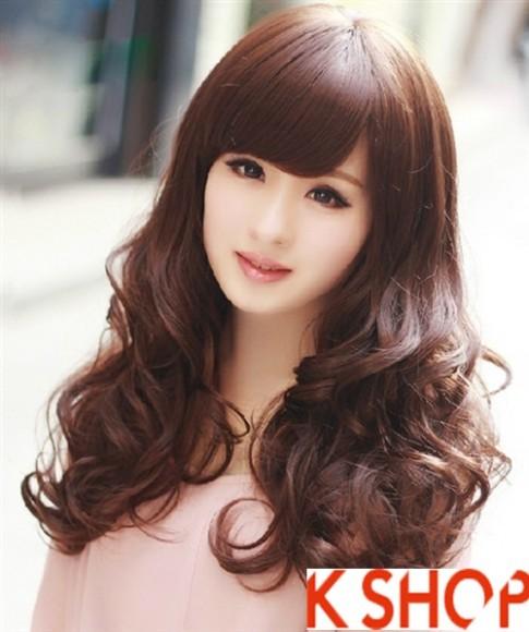 Kiểu tóc xoăn đẹp 2017 phong cách Hàn Quốc cho cô nàng xinh xắn