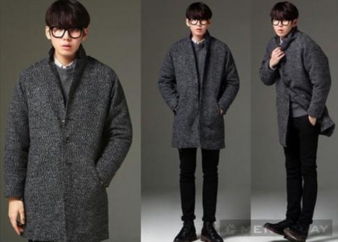 Mẫu áo khoác cardigan len nam dáng dài kiểu hàn quốc đẹp cá tính đông 2016 – 2017
