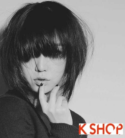 Mẫu Tóc ngắn Hàn Quốc đẹp cho bạn gái khuôn mặt tròn dễ thương cực đáng yêu 2017