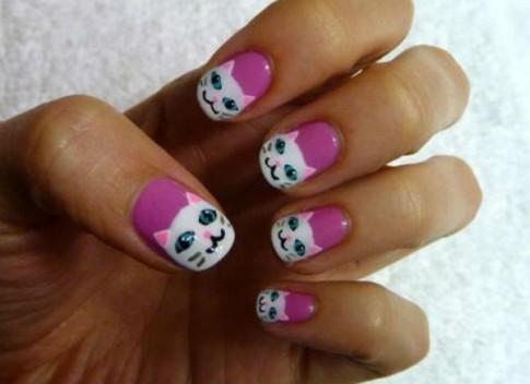 Móng tay nail đẹp hình con vật đáng yêu cho cô nàng tuổi teen hè 2016