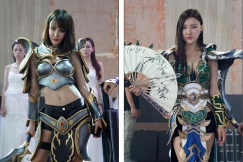 Người mẫu game Trung Quốc hết mùa mặc hở