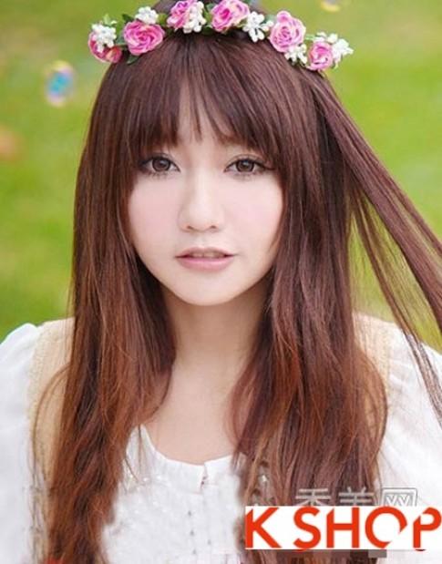 Những kiểu tóc hàn quốc đẹp hè 2016 cho cô nàng khuôn mặt tròn