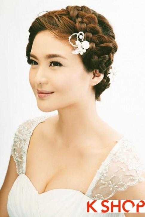 Những kiểu tóc tết cô dâu Hàn Quốc đẹp 2016 sang trọng lộng lẫy