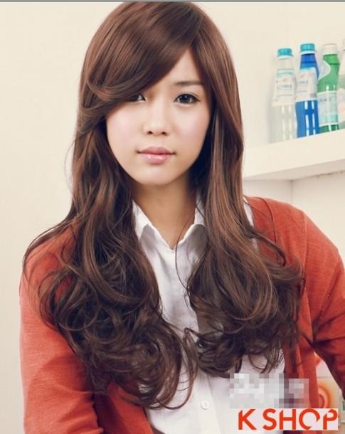 Những kiểu tóc uốn xoăn đẹp 2016 kiểu Hàn Quốc mang vẻ đẹp dễ thương