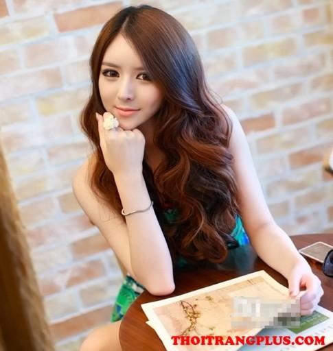 Những kiểu tóc xoăn dài đẹp 2017 Hàn Quốc cho cô nàng quyến rũ