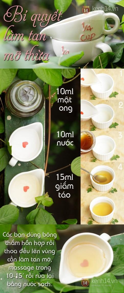 Phương pháp massage giảm mỡ bụng tại nhà với giấm táo