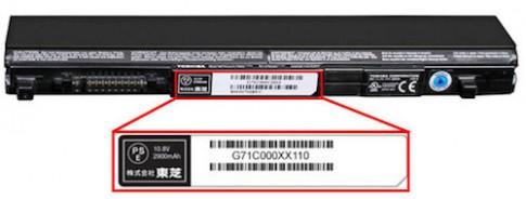 Pin laptop Toshiba quá nhiệt, có mùi khét cần được thu hồi