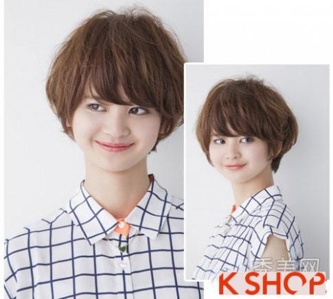 Tóc ngắn ngang vai Hàn Quốc 2017 bạn gái mang vẻ đẹp mạnh mẽ cá tính