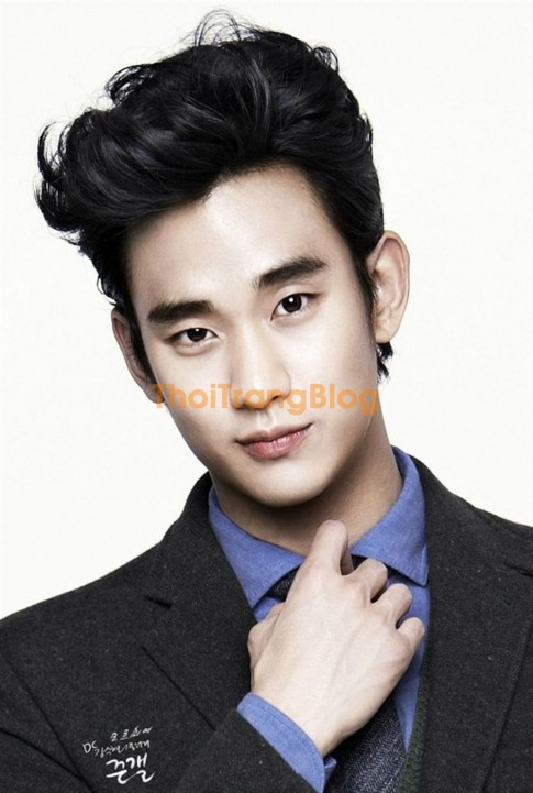 Tóc xoăn nam đẹp phong cách Hàn Quốc phù hợp khuôn mặt dài