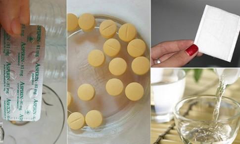 Trị viêm lỗ chân lông, da mịn màng bằng 1 vỉ Aspirin vài ngàn đồng