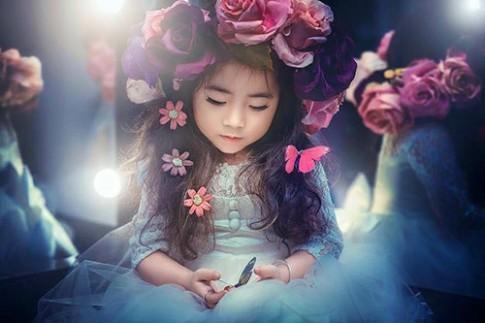 Vẻ xinh đẹp của bé gái Việt có nghìn người theo dõi trên facebook