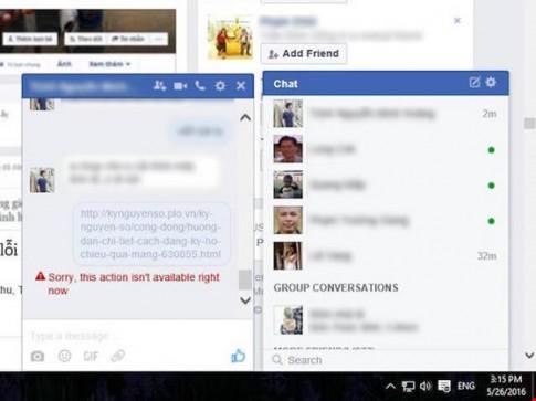 Xử lý lỗi không thể gửi link trên Facebook và Messenger