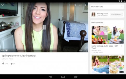 YouTube trên Android đổi giao diện Material Design