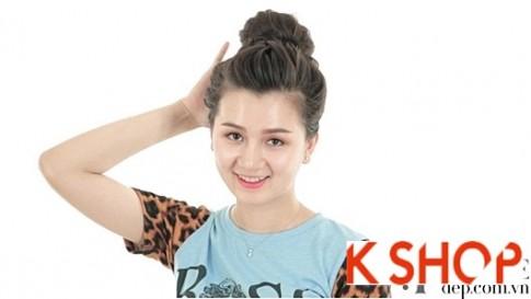 5 Kiểu búi tóc cao đẹp hè 2017 đơn giản dễ làm cho cô nàng dễ thương