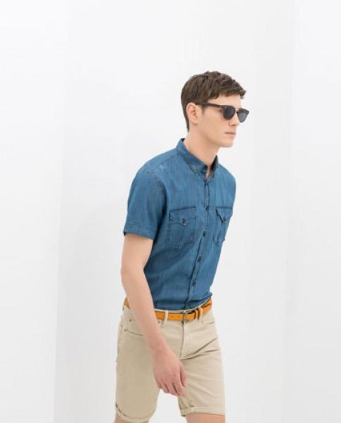 Áo sơ mi nam tay ngắn đẹp hè 2017 cho chàng trai mảnh khảnh tự tin