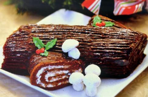 Bánh khúc cây lạnh vị chocolate - xoài
