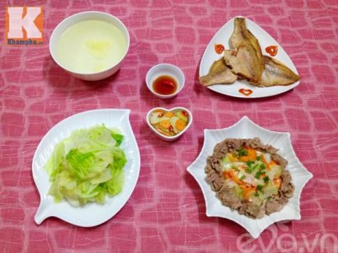 Bữa chiều đơn giản mà đưa cơm