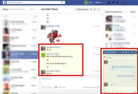 """Cách tìm lại biểu tượng """":v"""" và """":3"""" khi chat Facebook"""