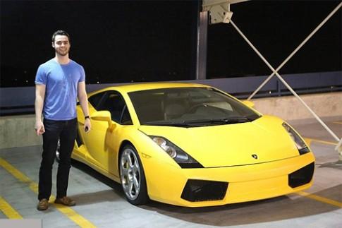 Chàng sinh viên muốn kiếm triệu đô nhờ siêu xe Lamborghini
