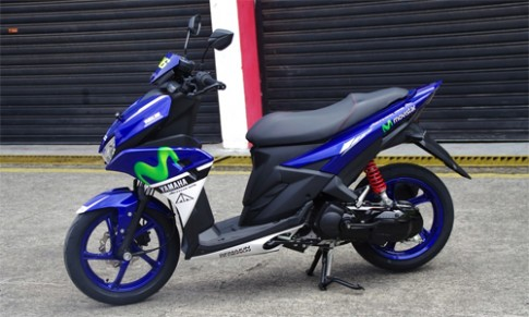 Chi tiết Yamaha Aerox 125LC phong cách Valentino Rossi