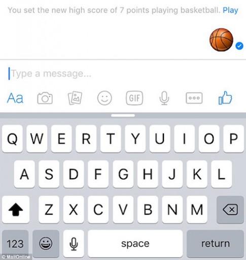 Chơi bóng rổ ngay trên cửa sổ chat Facebook Messenger