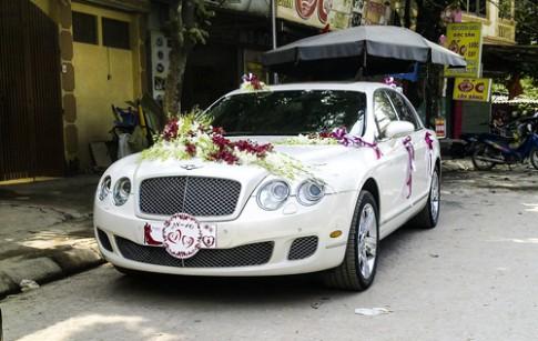 Dàn siêu sang Bentley rước dâu ở Thái Nguyên