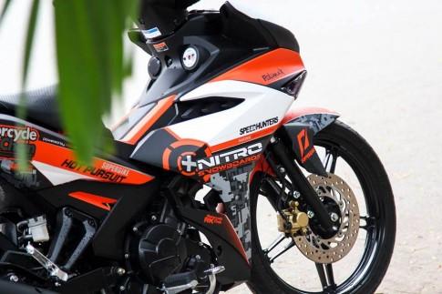 Exciter 150 Sơn tem đấu Cam Xám nổi bật của biker Bến Tre