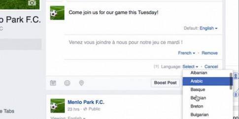 Facebook giúp xóa nhòa khoảng cách về ngôn ngữ