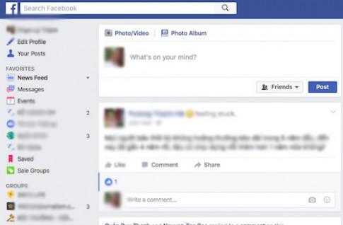 Facebook vừa có thay đổi nhỏ về giao diện