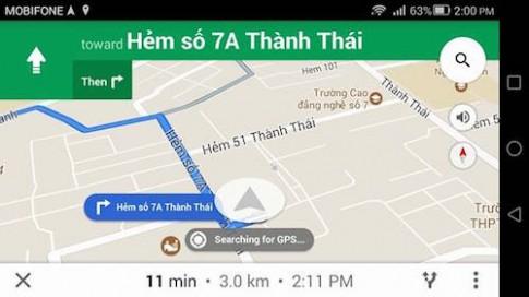 Google Maps dẫn đường bằng giọng nói tiếng Việt