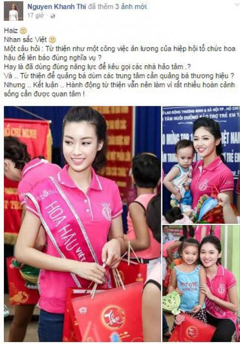 Hoa hậu Việt Nam: Khánh Thi gây tranh cãi khi nhận xét Hoa hậu đi từ thiện
