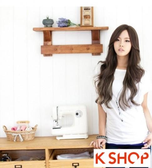 Kiểu tóc dài uốn xoăn đuôi nhẹ Hàn Quốc đẹp cho cô nàng quyến rũ 2017