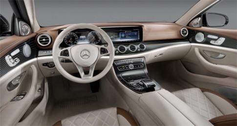 Mercedes tung ảnh nội thất E-class 2017