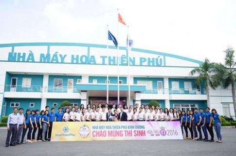 """Người đẹp Hoa hậu Việt Nam bị nhà máy hiện đại """"mê hoặc""""."""