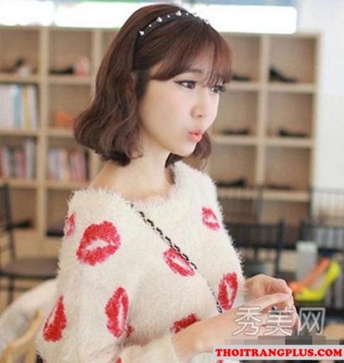 Những kiểu tóc uốn ngang vai đẹp 2017 được giới trẻ Hàn Quốc yêu thích