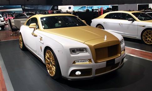 Rolls-Royce Wraith mạ vàng hàng độc tại triển lãm Geneva