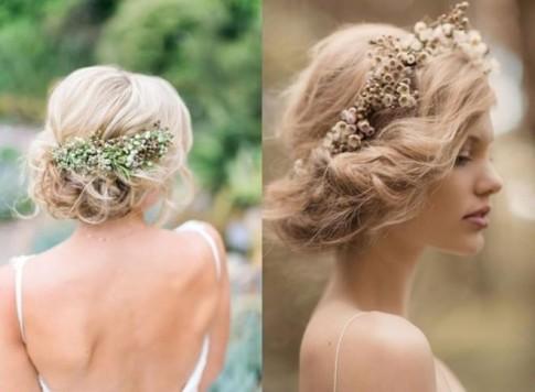 Tóc búi rối đẹp đơn giản cho cô dâu dễ thương trong ngày cưới 2017