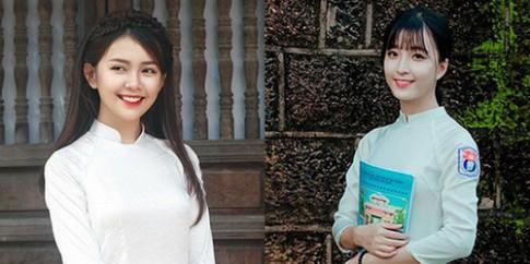 2 nữ sinh Nghệ An bất ngờ nổi tiếng vì đã xinh lại giỏi