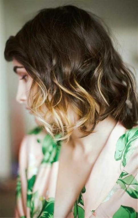 Bật mí 15 kiểu tóc nhuộm ombre đẹp 2017 cho cô nàng tóc ngắn