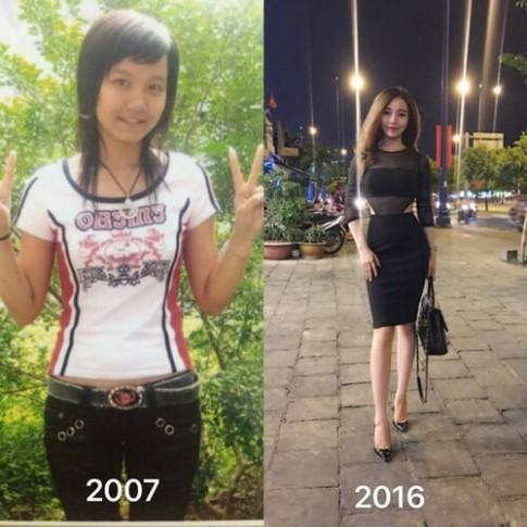 """Bất ngờ với những thay đổi trong loạt ảnh """"xưa -nay"""" của con gái Việt"""
