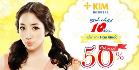 Bệnh viện thẩm mỹ Hàn Quốc KIM Hospital ưu đãi tới 50%.
