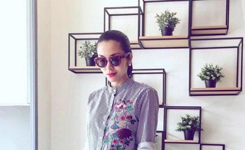 Chiếc áo 999 ngàn che bụng bầu cực đỉnh của Tăng Thanh Hà