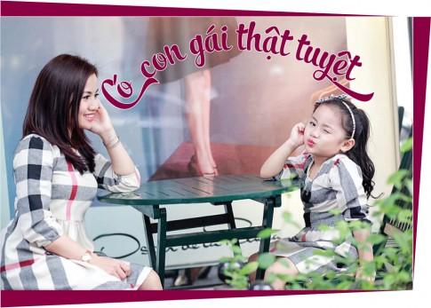 Giữa mùa đông, 2 mẹ con Hà Thành vẫn vô tư diện đồ hè ngọt ngào mát mẻ