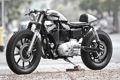 Harley-Davidson Sportster - cafe racer vô tình