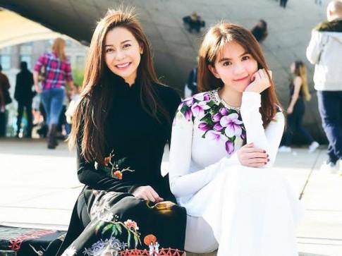 Hoa hậu Hải Dương đọ đường cong nuột nà với Ngọc Trinh