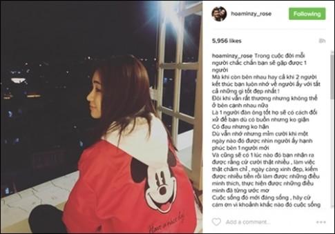 Hòa Minzy im lặng trước tin đồn đã chia tay bạn trai
