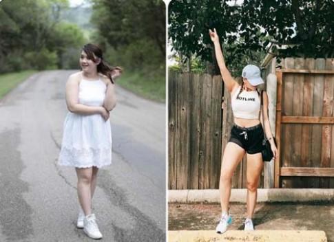 Không thể tin cô gái này đã giảm 13kg chỉ với phương pháp đơn giản